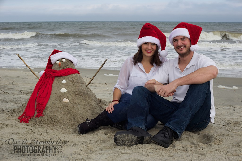 Chris and Meagan Johnson on Tybee Island